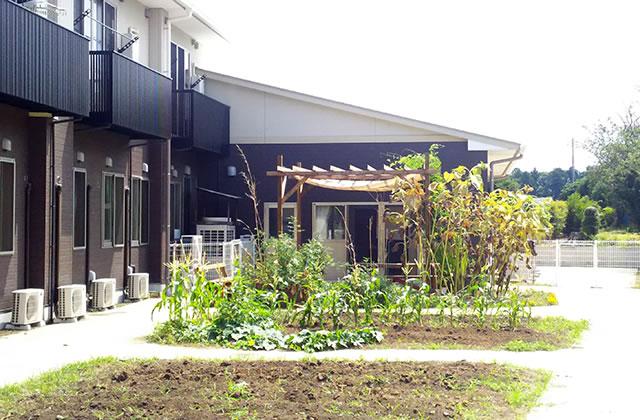 敷地内には家庭菜園を有しています